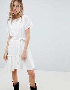 Платье с поясом AllSaints - Белый
