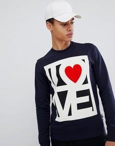 Свитер с логотипом Love Moschino - Темно-синий
