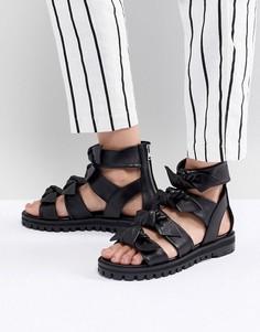 Сандалии с узелками AllSaints - Черный