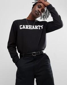 Черный лонгслив Carhartt WIP - Черный