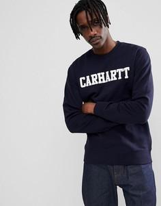 Темно-синий свитшот Carhartt WIP College - Темно-синий