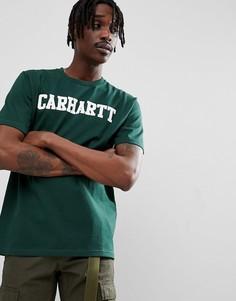 Зеленая футболка Carhartt WIP College - Зеленый