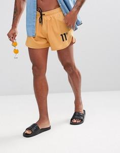 Желтые шорты для плавания с логотипом 11 Degrees - Желтый
