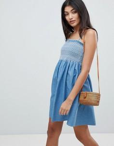Джинсовое платье на бретельках ASOS DESIGN - Синий