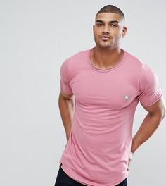 Удлиненная футболка с необработанными краями Le Breve TALL - Розовый