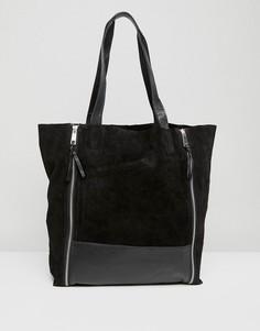 Сумка-шоппер с двумя молниями Urbancode - Черный