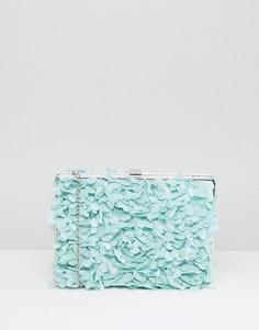 Клатч с цветочной аппликацией Chi Chi London - Зеленый