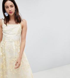 Платье миди для выпускного с цветочной вышивкой Dolly & Delicious - Мульти