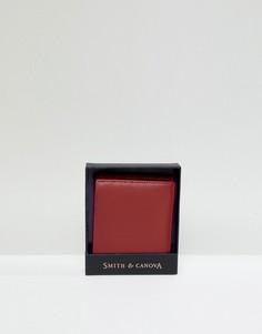 Кожаный бумажник Smith And Canova - Красный