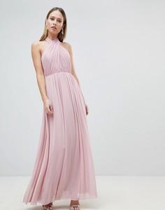 Шифоновое платье макси Lipsy - Розовый