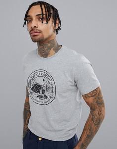Серая футболка Fjallraven Lagerplats - Серый