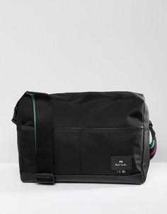 Черная нейлоновая сумка почтальона PS Paul Smith - Черный