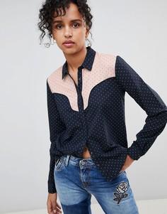 Рубашка в стиле вестерн Pepe Jeans Paula - Темно-синий