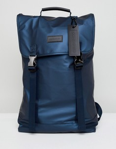 Темно-синий рюкзак с двумя застежками-зажимами Consigned - Темно-синий