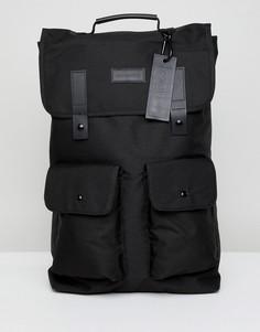 Черный рюкзак с карманом Consigned - Черный