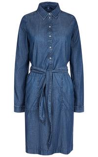 Джинсовое платье-рубашка TOM Tailor