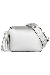 Серебристая сумка кросс-боди La Reine Blanche