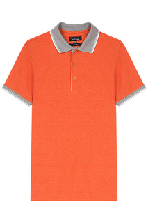 Оранжевая футболка-поло Al Franco