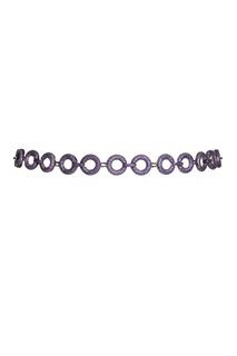 Пояс-цепь с фиолетовыми кристаллами Esve