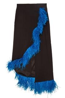 Черная юбка с перьями ЛИ ЛУ