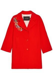 Хлопковое пальто с вышивкой пайетками Tara Jarmon