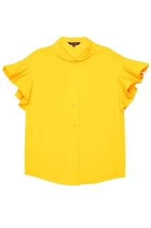 Желтая блузка из хлопка Tara Jarmon