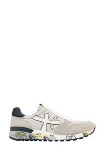 Серые комбинированные кроссовки Premiata