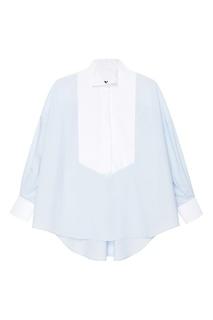 Хлопковая рубашка «смокинг» Mm6 Maison Margiela