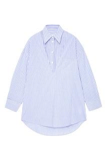 Хлопковая рубашка в полоску Mm6 Maison Margiela