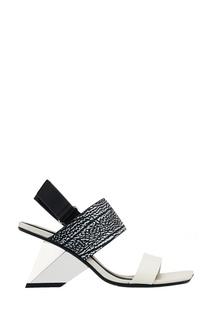 Босоножки из черно-белой кожи Rockit Sandal United Nude