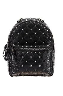Черный рюкзак с шипами Rockstud Spike Valentino