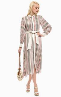 Платье-рубашка в полоску со съемной подкладкой Pennyblack