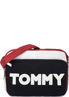 Текстильная сумка через плечо с нашивками Tommy Hilfiger