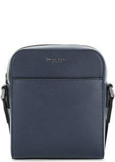 Синяя кожаная сумка через плечо Michael Kors