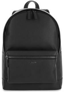 Черный кожаный рюкзак с карманами Michael Kors