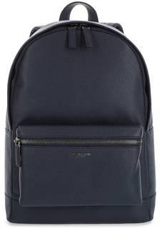 Синий кожаный рюкзак с карманами Michael Kors