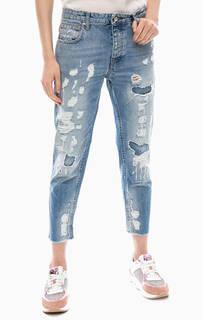 Рваные джинсы с заплатами Liu Jo