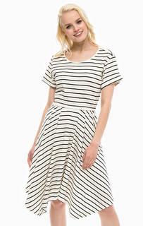 Платье молочного цвета с расклешенной юбкой Pennyblack