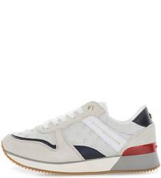 Текстильные кроссовки с замшевыми вставками Tommy Hilfiger