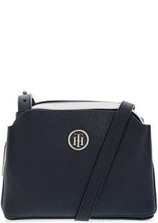 Синяя сумка через плечо с карманами Tommy Hilfiger
