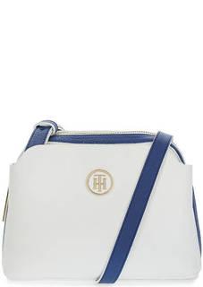 Белая сумка через плечо с карманами Tommy Hilfiger