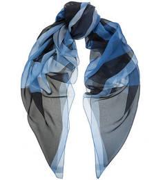 Синий шелковый платок Coccinelle