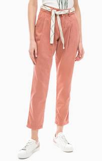 Хлопковые брюки с поясом Tom Tailor Denim