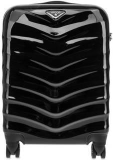 Черный пластиковый чемодан на колесах Verage