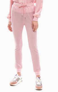 Розовые брюки джоггеры с люрексом Liu Jo Sport