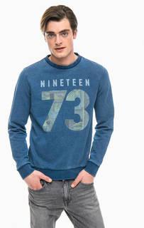 Синий свитшот из хлопка Pepe Jeans