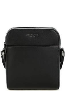 Черная кожаная сумка через плечо Michael Kors