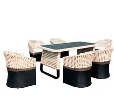 """Комплект мебели из ротанга """"CROCODILE"""" (стол + 6 кресел) BF"""