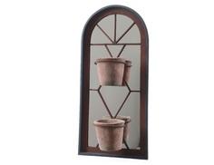 Настенное цветочное кашпо с зеркалом и двумя горшками Polkadot Store