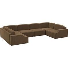 Диван АртМебель Триумф-П slide микровельвет коричневый